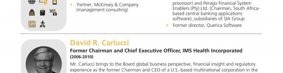 Mastercard Inc Chairman Richard Haythornthwaite chairman of